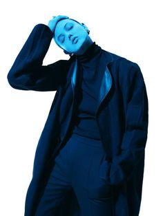 #blue #fashion #editorial