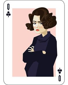 Donna Hayward is the Queen of clubs from my Twin Peaks themed deck of playing cards.