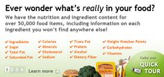 FoodFacts.com: Nutrition information and ingredient content