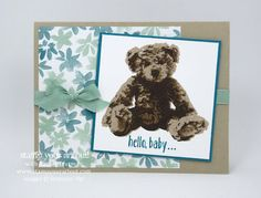 Click here to see 3 cards created with the Baby Bear stamp set and the Blooms & Bliss Designer Series Paper…stampyourartout #stampinup - Stampin' Up!® - Stamp Your Art Out! www.stampyourartout.com
