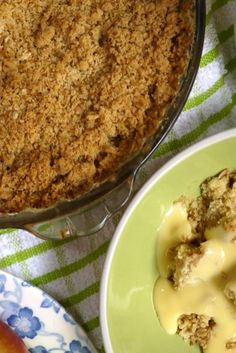 A quick and easy apple crumble recipe...