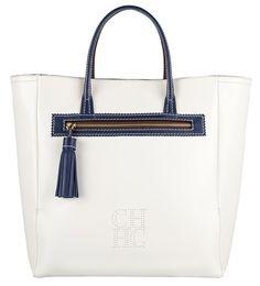 Carolina Herrera bolsos primavera verano 2012:  Bolso shopping blanco.