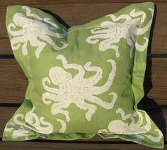 Octopus on light green