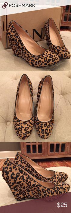 Banana Republic Calf Hair Wedge Banana Republic Calf Hair Wedge // worn twice // super cute // comfortable // Banana Republic Shoes Wedges