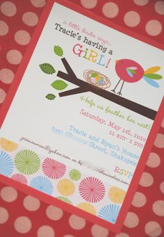 Great design to reveal with invitation