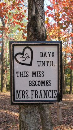 Personalized Wedding Countdown Dry Erase Sign
