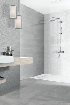 The Arabia range adds an elegant feel to kitchens and bathrooms, while the textured decor tiles are perfect for creating a stunning feature wall Bathroom Feature Wall Tile, Painted Bathroom Floors, Grey Bathroom Tiles, Bathroom Flooring, Wall Tiles, Bathroom Ideas, Paint Bathroom, Bathroom Laundry, Bathroom Inspo