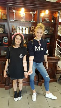 They got matching tattoos right after reading the season 7 scripts. Sophie said not everyone makes it through season 7. I wonder which of them won't survive next season? #GoT