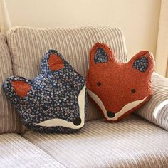 Love This!! Fox Cushion embroidered by Lisa Angel Homeware and Gifts £28.00