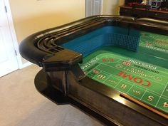Tinygiant Workshop | Homemade Craps Table Casino Night Food, Poker Table, How To Make Cake, Diy Furniture, How To Memorize Things, Workshop, Homemade, Storage, Building