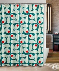 Orla Kiely Inspirate patern black Shower Curtain | Shower Curtain ...
