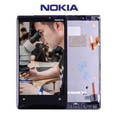 100% Original For Nokia Lumia 920 LCD Touch Screen with Frame For Nokia Lumia 920 Display Digitizer Assembly Replacement Parts