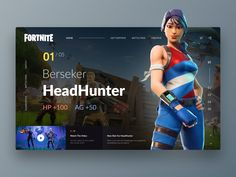 Fortnite Website Exploration by Timotius Muliawan Ui Design Inspiration, Design Trends, Free Music Websites, House Music Artists, Music Website Templates, Game Interface, Cute Funny Babies, Exploration, Landing Page Design