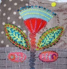 ♒ Enchanting Embroidery ♒ Kerry Stitch Designs: More Little Blocks Wool Applique Patterns, Felt Applique, Applique Designs, Wool Embroidery, Embroidery Stitches, Textile Fiber Art, Stitch Design, Fabric Art, Felt Crafts