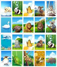 Dierenlotto, free printable / Jeu de loto à imprimer - les animaux