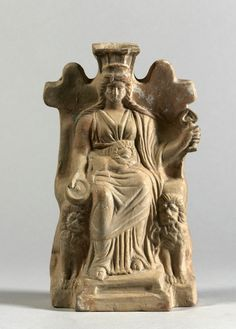 Cybele Enthroned. 1 Half of the 4th Century BC.      Location: Asia Minor (Turkey). © Foto: Antikensammlung der Staatlichen Museen zu Berlin - Preußischer Kulturbesitz