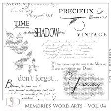 Memories Word Arts Vol 04 by D's Design  #CUdigitals cudigitals.com cu commercial digital scrap #digiscrap scrapbook graphics