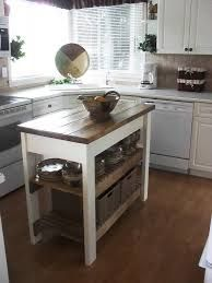 Farmhouse Kitchen Island With Wheels  Home  Pinterest Adorable Small Kitchen Island On Wheels Design Decoration