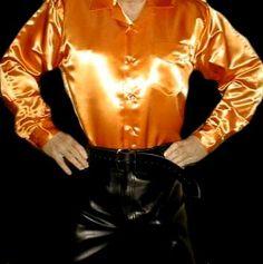 Tux Shirt, Mens Leather Pants, Satin Shorts, Satin Bomber Jacket, Satin Jackets, Sexy Shirts, Cool Jackets, Matching Shirts, Western Shirts