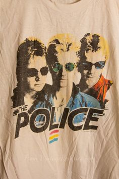 Rare Vintage The Police 1983 Synchronicity Tour sleeveless muscle tshirt Rock Tees, Rock T Shirts, Band Shirts, Vintage Band Tees, Vintage Shirts, 1920s Fashion Women, Police Shirts, Muscle T Shirts, Concert Tees