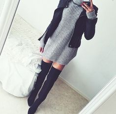 Find and save up to date fashion trends and the latest style inspiration, ootd photography and outfit looks Fall Outfits, Cute Outfits, Fashion Outfits, Womens Fashion, Fashion Trends, Fashion Inspiration, Leather Dresses, Look Cool, Autumn Winter Fashion