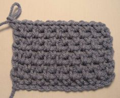 How to do a linen stitch or woven stitch.  Super simple, can use for an afghan or baby blanket.
