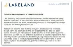 Lakeland hacked. #DataBreach #InfoSec