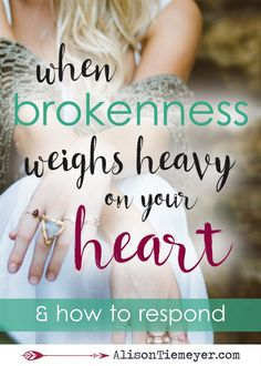 How do we trust God with all of our heart when brokenness surrounds us? How are we to respond? I believe that THIS is the answer. It's our only hope, our greatest confidence. Place your faith in the Lord & begin with this response today.