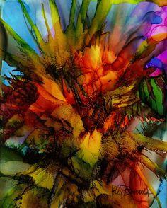 Moderne abstrakte Kunst 8 x 10 von KellyDombrowskiArt auf Etsy