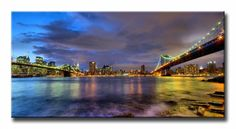 10111095 _ Cuadro Puentes de Brooklyn y Nueva York