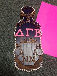 My sorority paddle for my big! :]