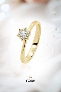 Zásnubný moment sprítomnený v prsteni, zachytávajúcom pocit šťastia a vidiny spoločnej budúcnosti. Z našej ponuky si zaručene vyberiete ten pravý, diamantový alebo drahokamový symbol vašej lásky. Wedding Rings, Engagement Rings, Diamond, Bracelets, Gold, Jewelry, Enagement Rings, Jewlery, Jewerly