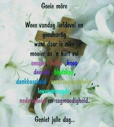 Quotes Motivation, Motivation Inspiration, Goeie More, Afrikaans Quotes, Good Morning, Motivational Quotes, Thankful, Signs, Dress