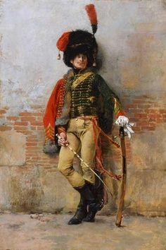 Maurice Orange - garde imperiale - Chasseur a cheval officier grande tenue
