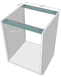 How to build a cabinet with pocket hole screws - Sawdust Girl® Building Kitchen Cabinets, Kitchen Base Cabinets, Kitchen Cabinet Drawers, Cabinet Plans, Built In Cabinets, Diy Cabinets, Office Cabinets, Wood Shop Projects, Furniture Projects
