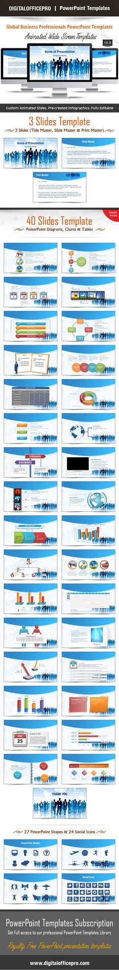 Business Office PowerPoint Template Backgrounds Template and - office powerpoint template