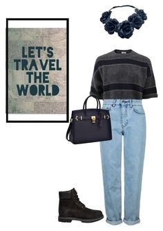 """Lets travel the world"" by zelihagunes on Polyvore featuring Brunello Cucinelli, Topshop, Timberland and Trademark Fine Art"
