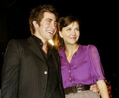 Jake and Maggie Gyllenhall, Oh, and it probably didn't hurt that dad's a drector and mom's a screenwriter. Celebrity Siblings, Maggie Gyllenhaal, Man Crush Everyday, Screenwriter, Red Carpets, Celebrity Look, Celebs, Celebrities, Woman Crush