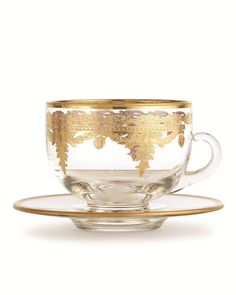 delicate gold teacup