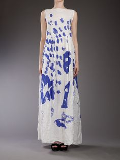 Daniela Gregis Linen Print Dress