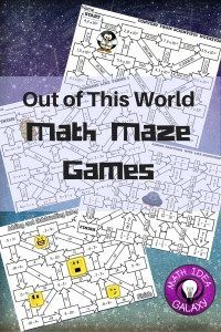 Out of This World- how and why mazes take math practice to a whole new level!
