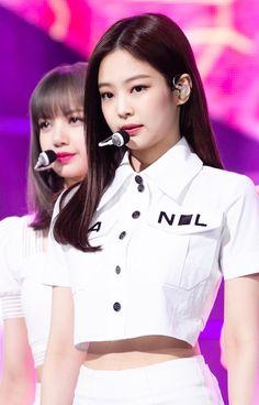Your source of news on YG's current biggest girl group, BLACKPINK! Kpop Girl Groups, Korean Girl Groups, Kpop Girls, Stage Outfits, Kpop Outfits, Blackpink Jennie, My Little Beauty, Blackpink Photos, Blackpink Fashion