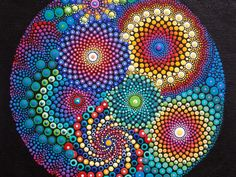 Mandala Painting, 11x14 Canvas Board, Original Art by Kaila Lance, Dot Mandala Swirl Painting, Mandala Art, Dot Art, One of a KIND by KailasCanvas on Etsy
