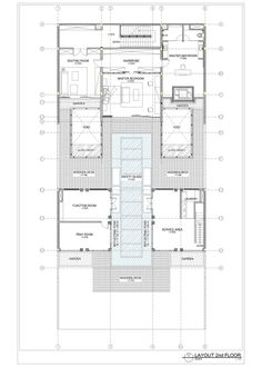 Static House,layout plan second floor