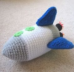Free Crochet Amigurumi Pattern Rocket Ship