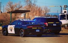 Dodge Charger and Ford Explorer. Us Police Car, State Police, Police Officer, Police Vehicles, Emergency Vehicles, California Highway Patrol, Los Angeles Police Department, Men Stuff, Ford Explorer