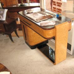 European 1930s Art Deco Streamline Desk | Sold Items Desks & Cabinets | Art Deco Collection