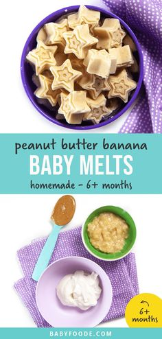 Peanut Butter Banana Peanut Butter Banana Baby Melts - the perfect healthy frozen food for baby. Made with 3 ingredients - peanut butter, bananas and yogurt. These melts are great for baby-led weaning and can also help relieve teething pains. #babyfood #melts #teething #baby Peanut Butter Baby, Peanut Butter Recipes, Peanut Butter Banana, Healthy Frozen Meals, Healthy Foods To Eat, Healthy Baby Food, Healthy Nutrition, Baby First Finger Foods, Toddler Finger Foods