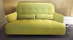 HARRY Small settee in Hermod Green. Was £2922 NOW £1999. Ex-Display, sold as seen.
