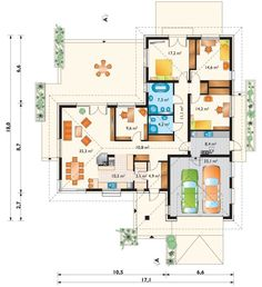 DOM.PL™ - Projekt domu AN TYMOTEUSZ G2 CE - DOM AO10-56 - gotowy koszt budowy Indian House Plans, Architectural House Plans, Villa Plan, Indian Homes, Facade House, Planer, New Homes, Floor Plans, House Design